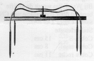 Verdeelstuk met 4 pennen en slangetjes